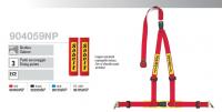 """Sabelt 3bodové tuningové pásy 2"""" včetně návleků, odepínací (červené) - AKCE"""
