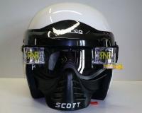 Sparco přilba PRO RJ-3 + SCOTT brýle s maskou a převíjením