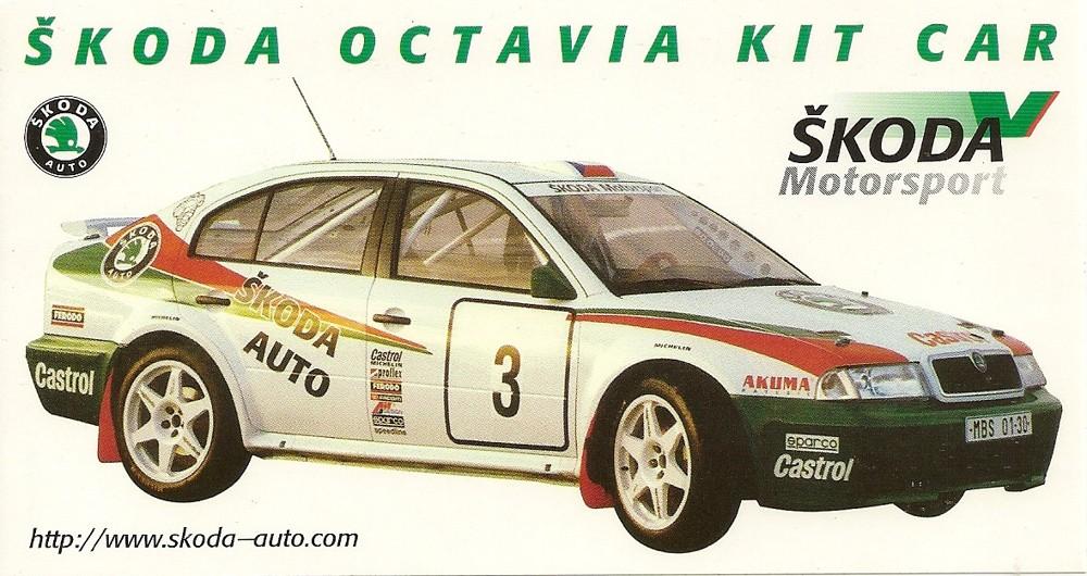 Škoda Octavia Kit Car samolepka