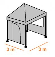 Stan 3 x 3 m - střecha