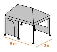 Stan 6 x 3 m - ocelová konstrukce