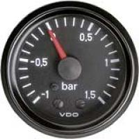 VDO ukazatel tlaku turba  -1,0  až  +1,5 bar