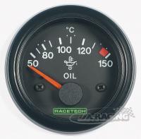 RACETECH elektrický ukazatel teploty oleje 50 - 150 °C