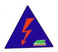 Samolepka 11cm (blesk) označení odpojovače
