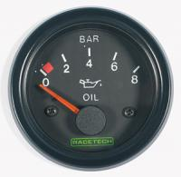 RACETECH elektrický ukazatel tlaku oleje (0 - 8 bar)