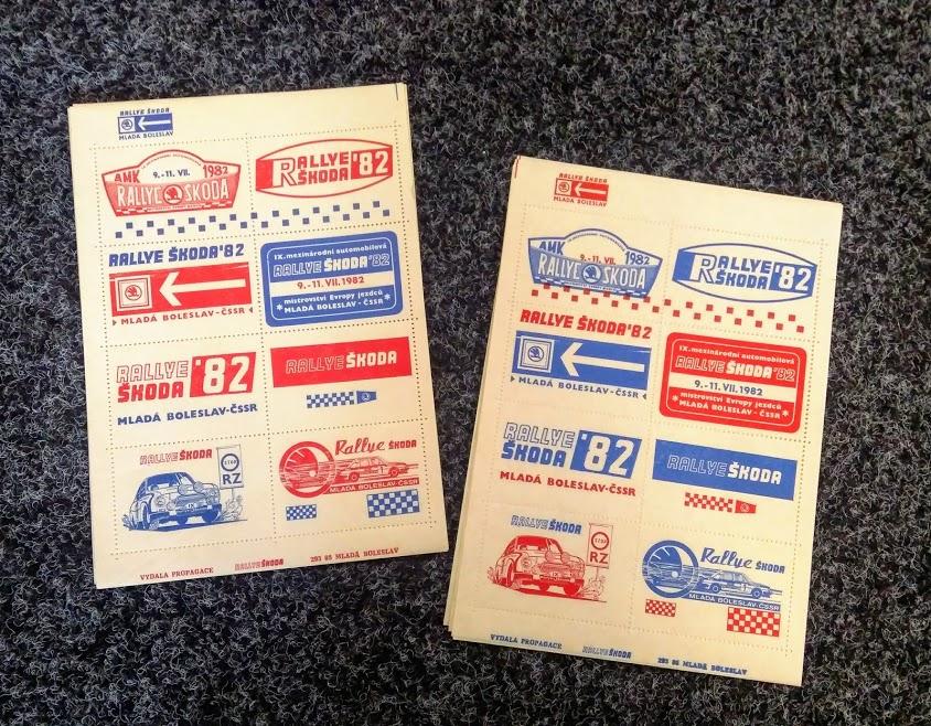 Sada známek Rallye Bohemia 1982