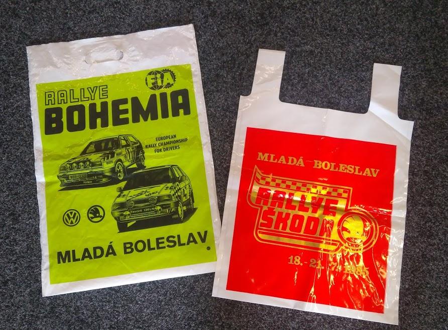 Igelitová taška Rallye Škoda 1985